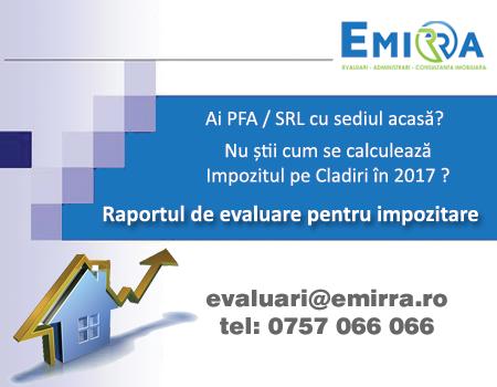 Evaluarea pentru Impozitare. Impozitul pe Cladiri 2017